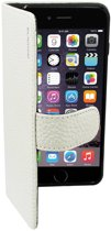 Suncia PREMIUM Leather5 Case / Boekvorm Hoes voor de Apple iPhone 6 Plus Wit