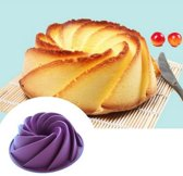 Siliconen Tulband Bakvorm - Tulpbandvorm Cake Vorm - Pudding Vorm - Ijs Taart Vorm