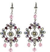 Oorbellen hangers met roze steentjes
