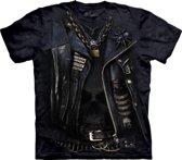 T-shirt bikerjack zwart 2XL
