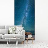 Fotobehang vinyl - De hemel verlicht het Pfeiffer Beach in Big Sur Amerika breedte 180 cm x hoogte 360 cm - Foto print op behang (in 7 formaten beschikbaar)