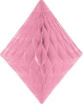 Baby Roze honeycomb diamant - 30 cm