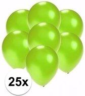Kleine metallic groene ballonnen 25 stuks