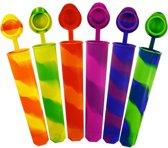 All You Need 6st. Siliconen IJsvormen | Waterijs | Zelf IJsjes maken | IJslolly Vormen | IJsschep | IJsvormpje | IJsvormpjes | IJs maken | Zelfgemaakt IJsje | IJsjes maker | Calippo IJsvormen | Gezond IJs | Creatief IJsjes maken | Waterijsjes