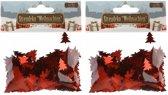 Confetti rode kerstboompjes 30 gram - Kerstversieringen Kerstboom confetti rood