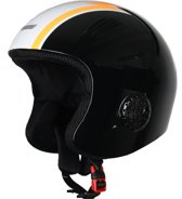 Eassun Ski Helm Apache Racing 57-59 (M) Zwart/Oranje/Wit Reg