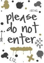 Stapelgoed - Muurstickers - Do not enter - grijs/groen - 70x50cm