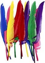 Veren, l: 27 cm, diverse kleuren, 12stuks