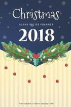 Christmas Blank Recipe Planner