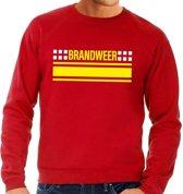 Brandweer logo sweater rood voor heren L