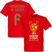 Liverpool Trophy Champions of Europe 6 T-Shirt - Rood - S