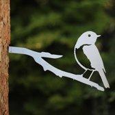 Blauwstaart RVS - By Aimy Birds - 23 x 15 cm BxH
