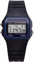 Hidzo Horloge Digital Watch ø 37 mm - Zwart - Kunststof
