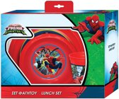 Marvel Eetset Spider-man Rood 3-delig