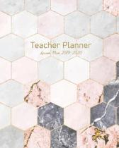Teacher Planner - Lesson Plan 2019 - 2020: Monthly Calendar - Undated Weekly Pages + Students Pages ... Academic Year (September - August) Modern Pink