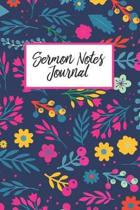 Sermon Notes Journal: Floral Religious Weekly Church Notes, Christian Bible Study Workbook Prayer Journal To Record, Remember And Reflect, M
