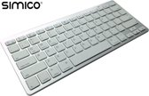 SIMICO Wireless Bluetooth Keyboard toetsenbord / Zilver / iOS PC Mac Android OSX compatible