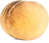 Tannery Leather Onderzetters Excellent Leer 4 stuks Metallic Brons- Rond