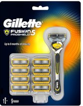 Gillette Fusion ProShield Scheersysteem met 9 Navulmesjes