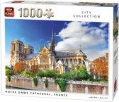King Puzzel 1000 Stukjes (68 x 49 cm) - Notre Dame Parijs - Legpuzzel - Gebouwen - Volwassenen