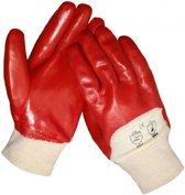 Tom Werkhandschoenen Pvc Rood Maat 10