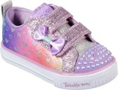 Skechers Shuffle Lite-Sparkly Hearts Sneakers Meisjes - Lavender Multi - Maat  25