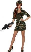 Verkleed kostuum -  militair/soldaat - camouflage - jurk voor dames - carnavalskleding - voordelig geprijsd M/L (38-40)