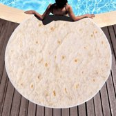 Burrito deken - 150 cm - Wrap blanket - Tortilla laken - Badlaken - Bad laken - Badhanddoek - Handdoek - Dekentje - Abosrberend - Taco - Burrito-deken - Mexicaans - Mexico - Purrito - Wrap - Dekens