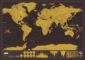 Kras Wereldkaart - Inclusief houder/koker! - Wereldkraskaart - Reiskaart - Reizen - Travel map