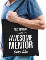 Kadotas This is what an awesome mentor looks like zwart katoen - cadeautas mentor
