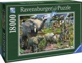 Ravensburger puzzel Bij de drinkplaats - Legpuzzel - 18000 stukjes