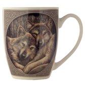 Lisa Parker porseleinen mok met wolven