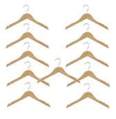 Set van 10 (+ 1 GRATIS!) kinder kledinghangers van 35 cm breed voor grotere kinderkleding