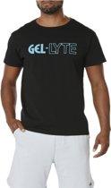 Asics Graphic 3 Tee A16060-9042, Mannen, Zwart, T-shirt maat: L EU