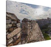 RuÏnes van een kasteel bij Efeze in Turkije Canvas 60x40 cm - Foto print op Canvas schilderij (Wanddecoratie woonkamer / slaapkamer)
