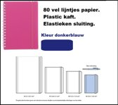 Notitieboekje spiraal a6 donkerblauw