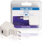 Lader 1-Uitgang 2.1 A 2.1 A USB Wit