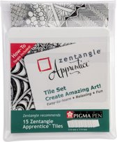 Zentangle Apprentice tile set 15 (15 witte tiles)