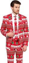 OppoSuits Winter Wonderland - Mannen Zomer Kostuum - Rood - Kerst - Maat 62