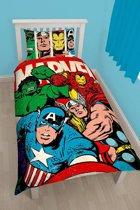 Marvel Comics Strike - Dekbedovertrek - Eenpersoons - 135 x 200 cm - Multi