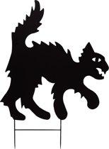 Europalms Silhouette metaal Cat, 67cm