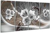 Glas schilderij Modern | Grijs, Bruin | 160x80cm 4Luik | Foto print op Glas |  F007837
