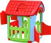 Speelhuis Shed rood-blauw-groen