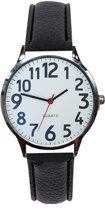 Fako Bijoux® - Horloge - Rond - Ø 40mm - Zilverkleurig - Wit