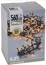 DecorativeLighting Micro Cluster 560 LED - 11m - met timer en dimmer - extra warm wit