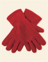 Rode fleece handschoenen Xl/2xl
