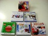60 stuks: Luxe Kerstkaart en Nieuwjaarskaart - Glitter - met envelop | 13x13cm | 6 pakjes | Serie K