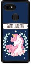 Google Pixel 3 XL Hardcase hoesje Sweet Unicorn
