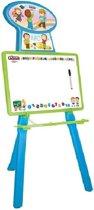 Pilsan schoolbord met wielen voor kinderen / in twee stappen verstelbare lengte / geschikt voor gebruik van kinderen van 3 jaar en ouder |plezierig en educatief speelgoed voor kinderen / grondstof geschikt voor de gezondheid van kinderen