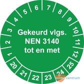 NEN 3140 keuringssticker  Ø 30 mm - 25 stickers
